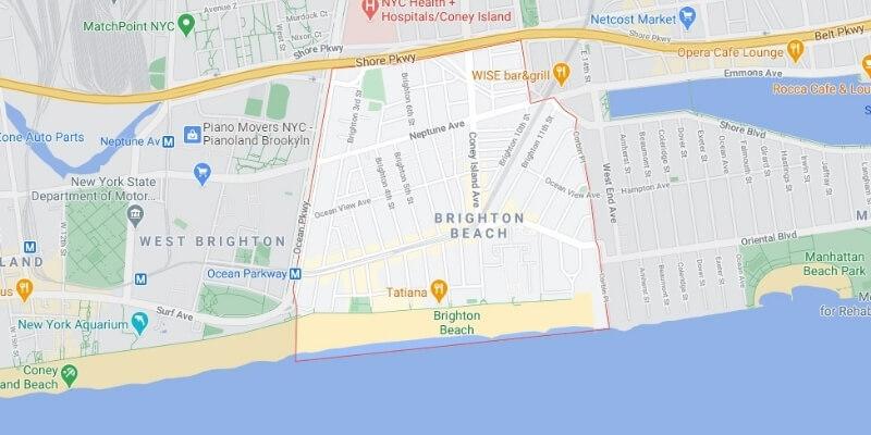 garage door Brighton Beach map Mr Garage Door Repairman